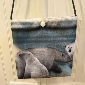 NWT. Polar bear purse